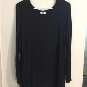 Long black long sleeve blouse.